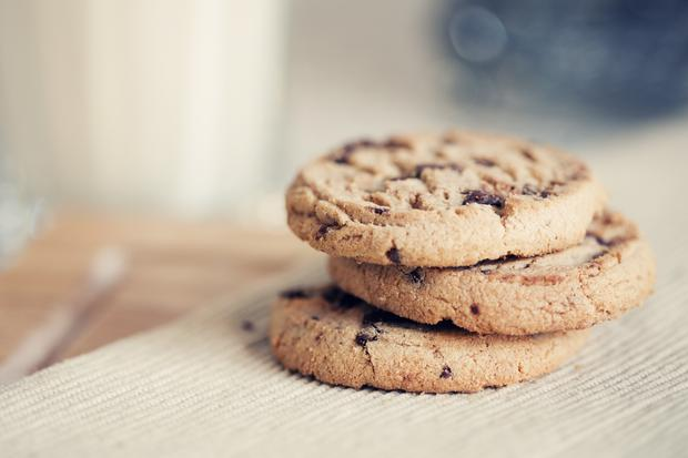 Double Chocolate Chip Cookies with White and Dark Chocolate