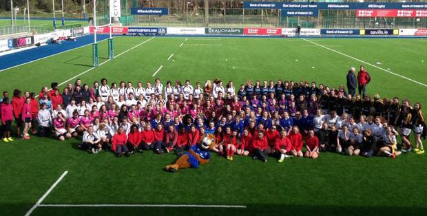 The schools travelled from all across the province to Donnybrook Stadium to try out the fabulous new '4G' pitches