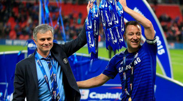 Jose Mourinho (left) and John Terry (right)