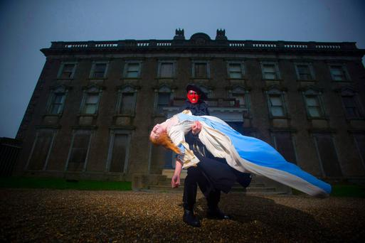 Loftus Hall at Halloween.