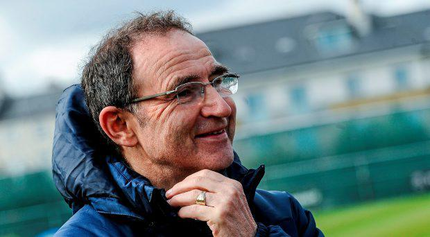 24 March 2015; Republic of Ireland manager Martin O'Neill speaking to members of the media in the Republic of Ireland Mixed Zone. Gannon Park, Malahide, Co. Dublin. Picture credit: David Maher / SPORTSFILE