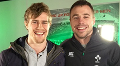 Andrew Trimble and Tommy Bowe