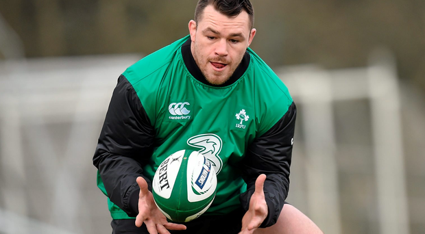 Cian Healy in action during squad training