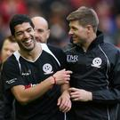 Luis Suarez and Steven Gerrard