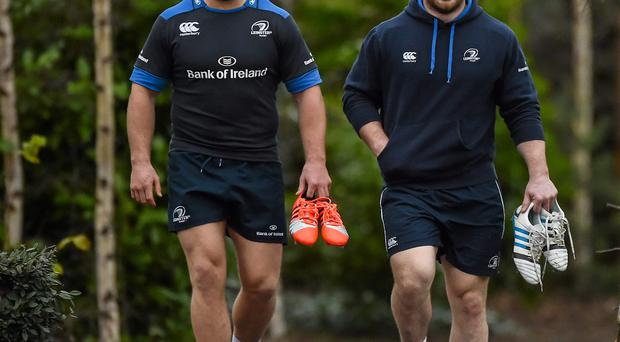 Sean O'Brien and Cian Healy will be hoping to produce big performances for Leinster against Bath