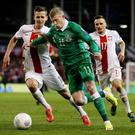 Ireland's James McClean and Poland's Pawel Olkowski in action Action Images via Reuters / Paul Childs Livepic
