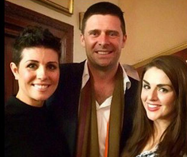 Gillian and Niall Quinn, with Sile Seoige