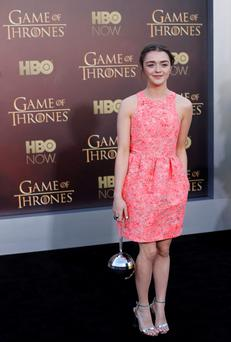 Actress Maisie Williams arrives for the season premiere of HBO's