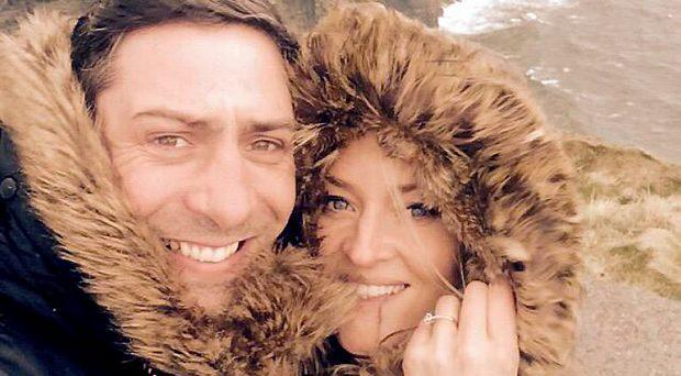 Cllr Kenneth Egan with his fiancee Karen Sullivan at the Cliffs of Moher on 29/3/2015 Pic: Kenneth Egan/Twitter
