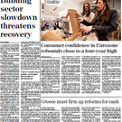 Today's front page of the Irish Independent business section