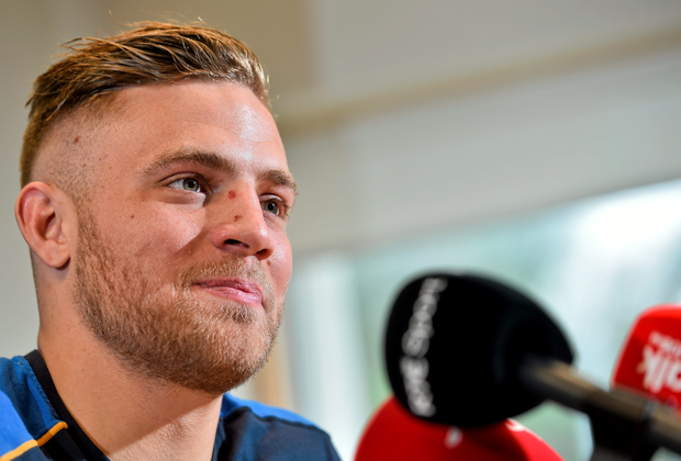 Leinster's Ian Madigan during a press conference. Leinster Rugby Headquarters, UCD, Belfield, Dublin. Picture credit: Ramsey Cardy / SPORTSFILE