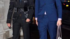 Graham Norton and Andrew Smith attend the Samsung BlueHouse private view of the Savage Beauty Exhibition, celebrating Alexander McQueen, at Victoria & Albert Museum
