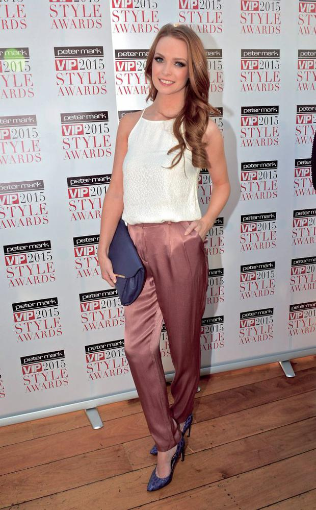 Guests attend the launch of the VIP Style Awards 2015 at The Marker Hotel, Dublin, Ireland - 03.03.15. Pictures: Cathal Burke / VIPIRELAND.COM *** Local Caption *** Aoife Walsh