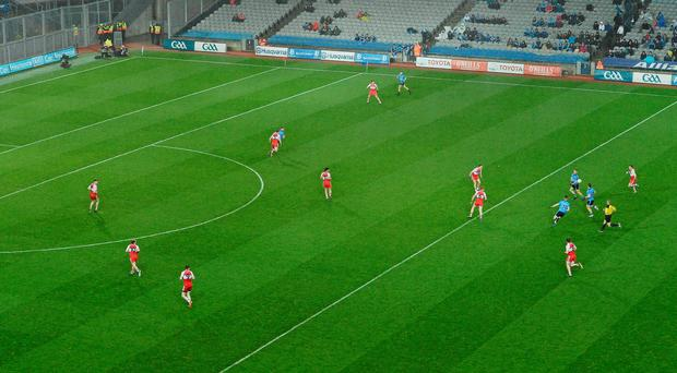 Derry get men behind the ball in their defeat to Dublin at Croke Park