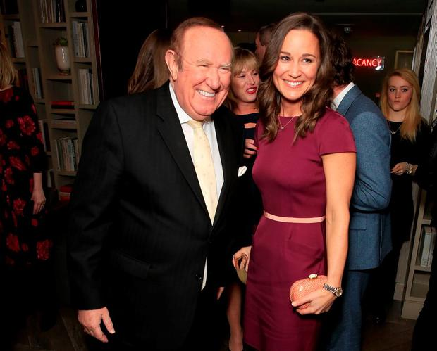 Andrew Neil and Pippa Middleton attend as Spectator Life magazine celebrates its third birthday at the Belgraves Hotel on March 31, 2015 in London, England. (Photo by David M. Benett/Getty Images)