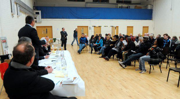 General view of FF host public meeting on crime