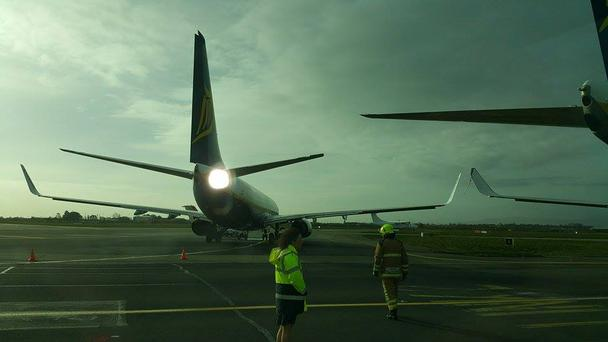 Two Ryanair aircrafts 'clipped each other' in Dublin Airport this morning (Photo: Daniel Tansey)
