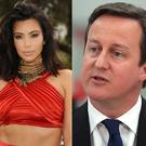 Kim Kardashian (left) and David Cameron (right)