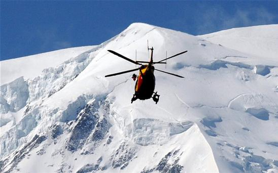 A group of 11 skiers were swept away when the avalanche struck