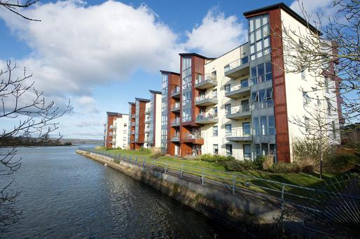DTZ Sherry FitzGerald seeking €6.75m for these two apartment blocks at Harty's Quay in Rochestown in Cork City