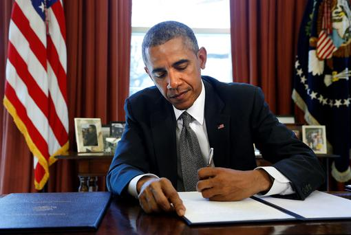 US President Barack Obama, in an executive order, declared such activities a 'national emergency' and allowed the US Treasury to freeze the assets and bar other financial transactions of entities engaged in cyber attacks.