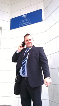 Nick O'Brien at Letterkenny court after his legal victory