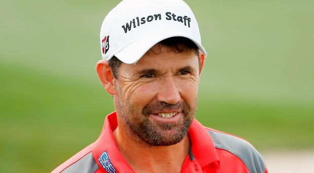 Padraig Harrington gets in a practise round ahead of the Shell Houston Open