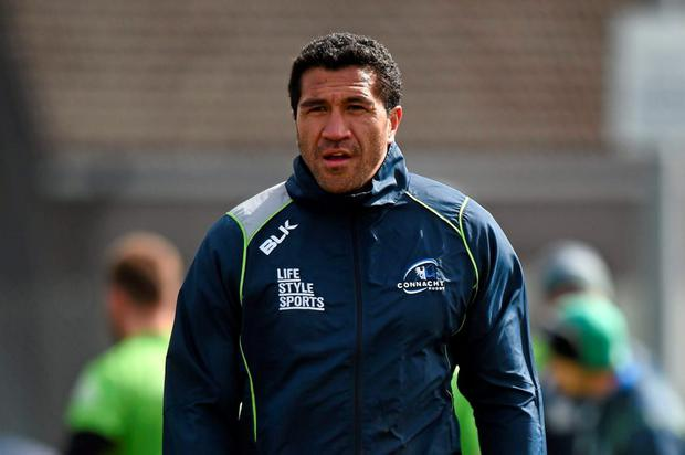 Connacht's Mils Muliaina during squad training