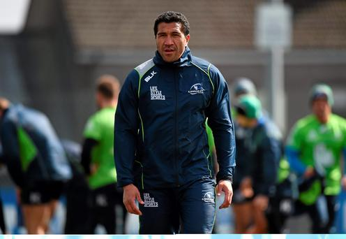 31 March 2015; Connacht's Mils Muliaina during squad training. Sportsground, Galway. Picture credit: Pat Murphy / SPORTSFILE