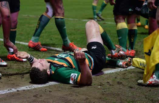 North was knocked unconscious in the first half of Northampton's victory against Wasps when Nathan Hughes' lower leg struck North's head as he was scoring a try.