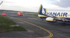 Two Ryanair planes clipped wings at Dublin Airport