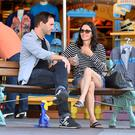 Courteney Cox and her fiance Johnny McDaid spend a day at Disneyland with Courteney's daughter Coco.