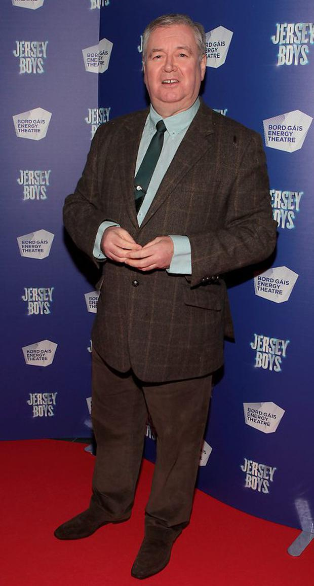 Joe Duffy at the opening night of Jersey Boys at the Bord Gais Energy Theatre,Dublin