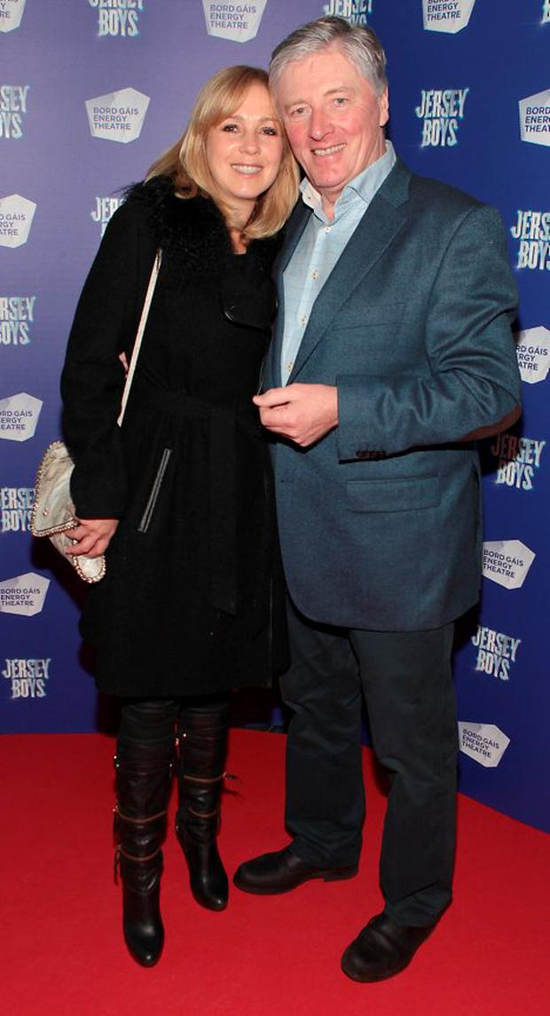 Kathy Kenny and Pat Kenny at the opening night of Jersey Boys at the Bord Gais Energy Theatre,Dublin