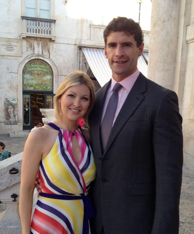 Trevor Hogan with his wife Claire Brock