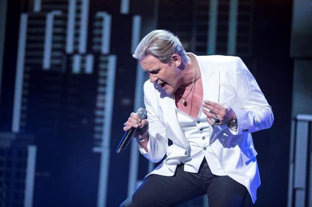 Programme Name: Eurovision's Greatest Hits - TX: 03/04/2015 - Episode: n/a (No. 1) - Picture Shows: Johnny Logan - (C) BBC - Photographer: Guy Levy