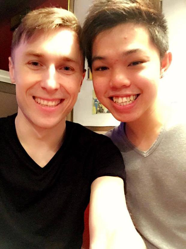 Ian Begley (24) and his boyfriend Eric Wan. Picture: Facebook
