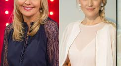 Miriam O'Callaghan (left) and Lisa Fitzpatrick (right)