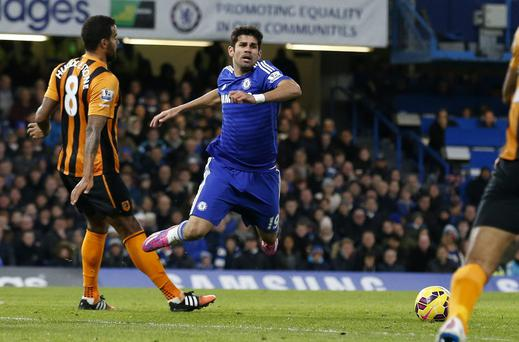 Chelsea's Diego Costa was shown the yellow card for this 'dive' against Hull City but too often the cheats con the referee, winning free kicks and penalties and getting opponents into trouble