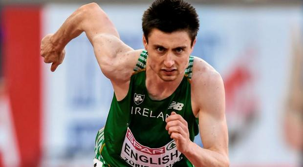 Mark English will be the first Irish athlete in action
