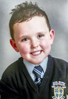Jake Brennan aged 6 who was killed in a road traffic collision at Lintown Grove Kilkenny