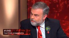 SIPTU boss Jack O'Connor on TV3's 'Tonight With Vincent Browne' Pic: TV3