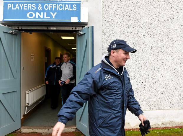 Dublin manager Jim Gavin makes his way to the pitch