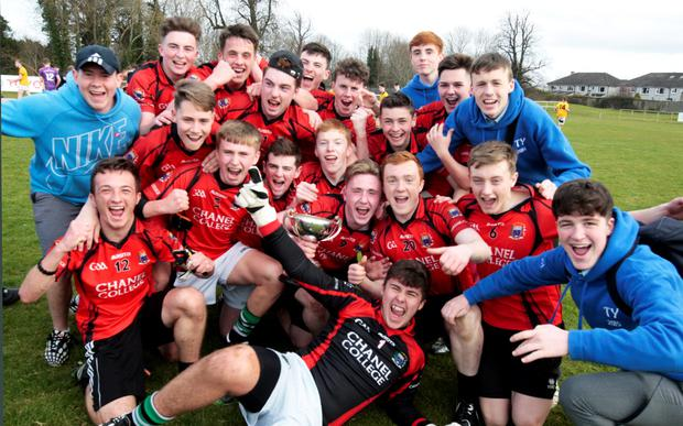 Chanel College celebrate their victory over St Paul's