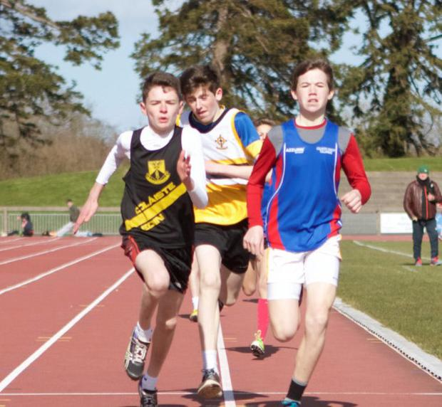 Donnacha ó Ciadhra (left) on his way to victory in the race