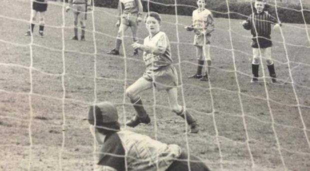 Robbie Keane scoring his first-ever penalty for Crumlin