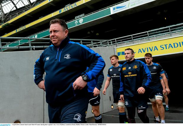 Leinster head coach Matt O'Connor during their captain's run. Aviva Stadium, Lansdowne Road, Dublin. Picture credit: Matt Browne / SPORTSFILE