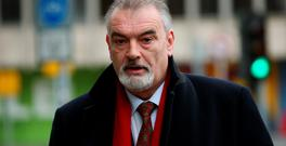 Ian Bailey arrives at the Four Courts in Dublin where the jury in a long-running lawsuit brought by the Englishman who claims gardai conspired to frame him for the unsolved murder of a French film-maker had begun its deliberations, March 30 (Brian Lawless/PA Wire)