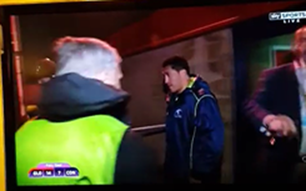 Connacht's Mils Muliaina has been arrested in Britain, according to Sky News