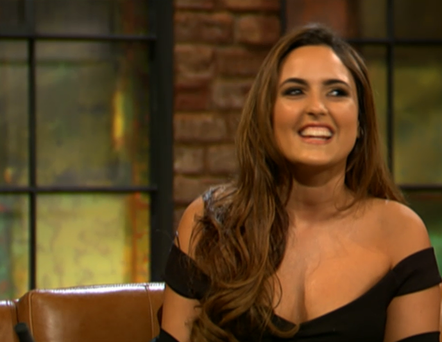 Model and singer Nadia Forde on tonight's Late Late Show.